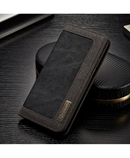 Black CaseMe Flip Denim Wallet Case